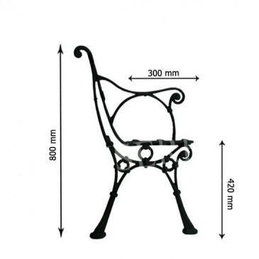 Litinová lavička - LEA - nr.4 - cena za 2 ks-pár