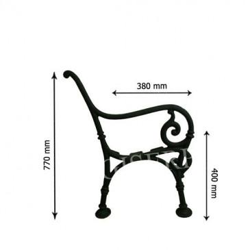 Litinová lavička - LENKA - nr.7 - cena za 2 ks-pár