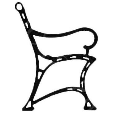 Litinová lavička - LUKRÉCIE - nr.23 - cena za 2 ks-pár