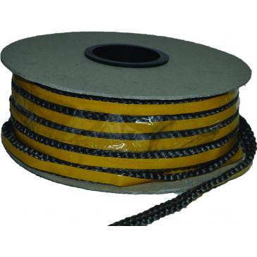 Sklokeramická šňůra plochá-samolepící 8x4 mm - cena za 1 m