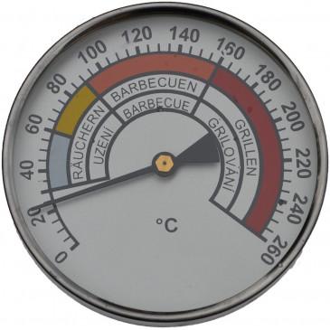 Teploměr do udírny-0-260°-pr.100mm-stonek 400mm