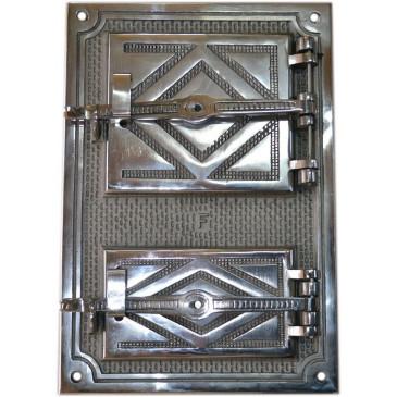 Litinový kamnový štít hermetický -LUX-nikl