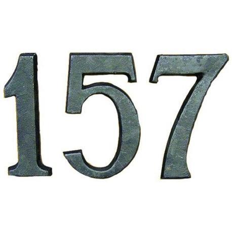 Čísla domovní litinová  - 9