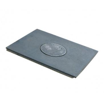 Litinová plotna kamnová široká s 1.otvorem 600x300