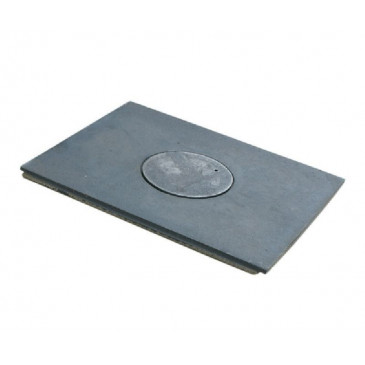 Litinová plotna kamnová široká s 1,otvorem 630x315