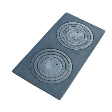 Litinová plotna kamnová široká se 2, otvory 630x315