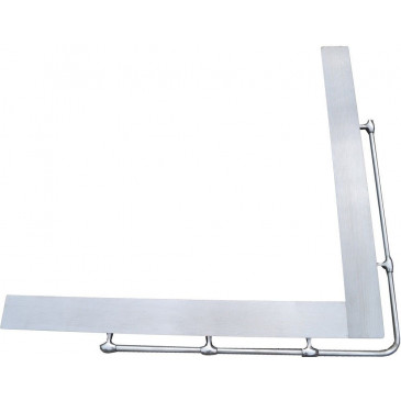 Rám plotny - L – pravý – nerez + stříbrná hrazdička