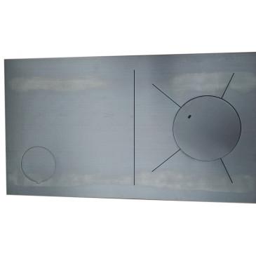 Plotna broušená ocel-KLASIK -838 x 475-1L-levá