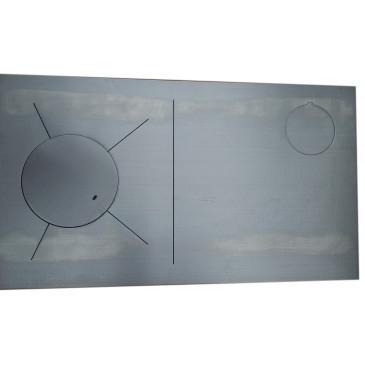 Plotna broušená ocel-KLASIK-838 x 475-1P-pravá