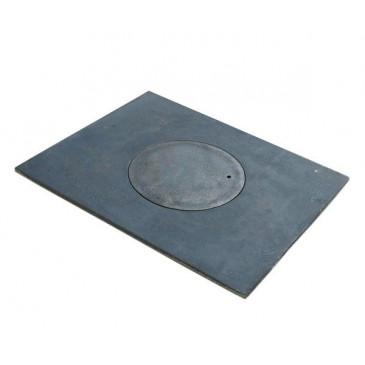 Litinová plotna kamnová široká s 1.otvorem 520x300