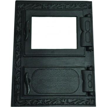 Litinový kamnový štít  RITA - černý