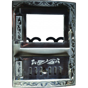 Litinový kamnový štít KRETA - nikl - oblouk s regulací vzduchu