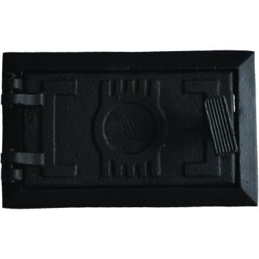 Dvířka popelníková,revizní - 6x3 - MALÁ-černá