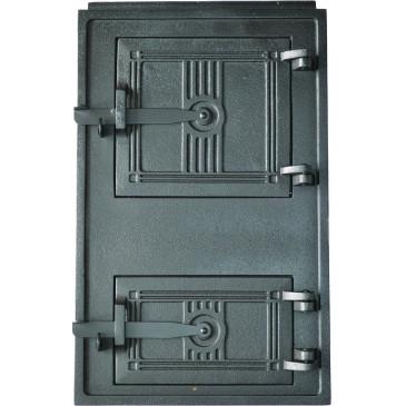 Litinová dvířka kuchyňská - 4T - velká - černá